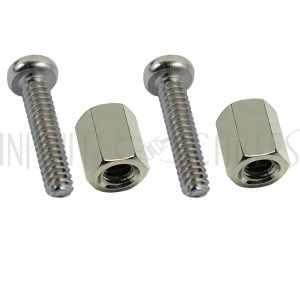 CV-SCREW-KIT 13mm Screws and Hex Nuts for Securing D-Cut Connectors to Patch Panels and Wall Plates - Infinite Cables