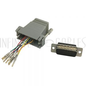 MD-RJ45-DB15M RJ45 Female to DB15 Male Modular Adapter