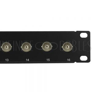 PP-BNC-16 16-Port 75 Ohm BNC patch panel, 19 inch rackmount 1U