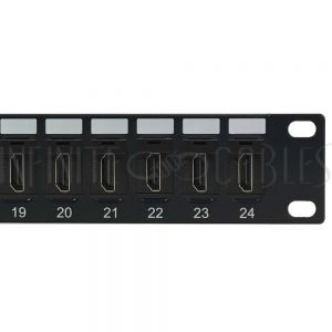 PP-HDMI-24 24-Port HDMI patch panel, 19 inch rackmount 1U