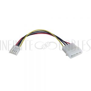 PW-IN52535-6 6 inch LP4 Male to SP4 Female Internal Power Cable - Infinite Cables