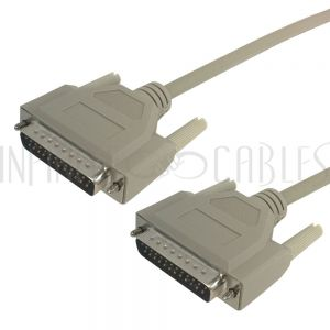 DB25 Male to Male Null-Modem Serial Cables