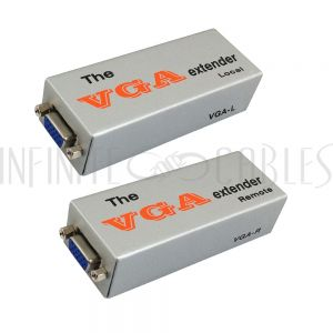 VGA-E VGA Video Extender Over Cat 5e (Up to 180m) - Infinite Cables