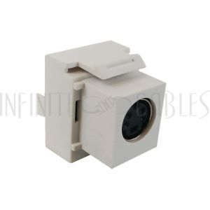 WP-IN-SVDP S-Video 110 Style Punch Down to Female Keystone Wall Plate Insert - Infinite Cables