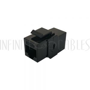 JK-8C5FF-BK Cat5e RJ45 Female to Female Keystone Coupler - Black - Infinite Cables