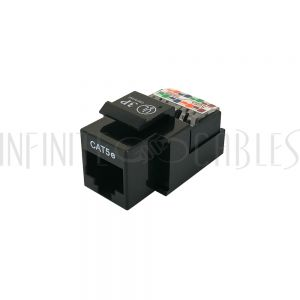 JK-8C5S-BK Cat5e RJ45 Tool-Less Jack - Black - Infinite Cables