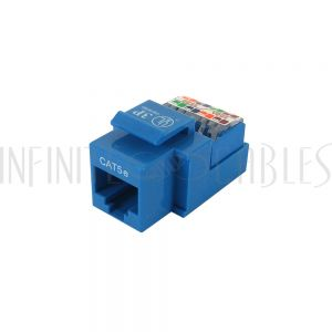 JK-8C5S-BL Cat5e RJ45 Tool-Less Jack - Blue - Infinite Cables