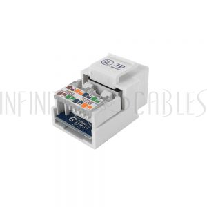 JK-8C5S-WH Cat5e RJ45 Tool-Less Jack - White - Infinite Cables
