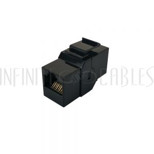 JK-8C6FF-BK Cat6 RJ45 Female to Female Keystone Coupler - Black