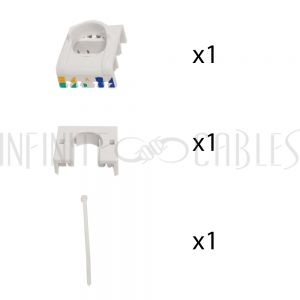 JK-C6A-SS RJ45 Cat6a Slim Profile Jack, 110 Punch/Tool-Less, Shielded - Stainless Steel - Infinite Cables