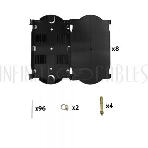 PP-F1503-BK Indoor Wall Mounted Fiber Optic Distribution Box (48 Couplers Maximum) - Black - Infinite Cables