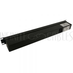 1582T8E1BK Hammond 19 Inch 8 Outlet Horizontal Rack Mount Power Strip - C14 Inlet, C13 Front Receptacles - Infinite Cables