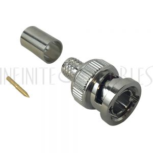 CN-30-RG6-6G BNC Male Crimp Connector for RG6 Cable - 6GHz Max - Infinite Cables