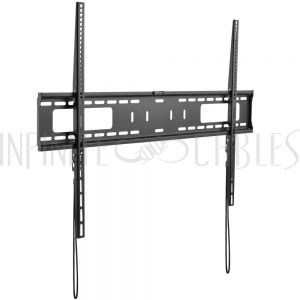 MT-345-BK Fixed TV Wall Mount Bracket for Flat and Curved LCD/LEDs - Fits Sizes 60-100 inches - Maximum VESA 900x600 - Infinite Cables