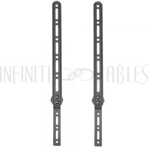 MT-950-BK Sound Bar Bracket, Fits 23-65 Inch TV, VESA Compatible - Black (Pair) - Infinite Cables