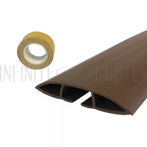 RW-FT100-BR Floor Track Cord Cover with Adhesive Tape - Brown - Infinite Cables