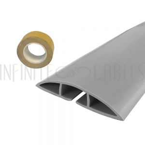 RW-FT100-GY Floor Track Cord Cover with Adhesive Tape - Grey - Infinite Cables