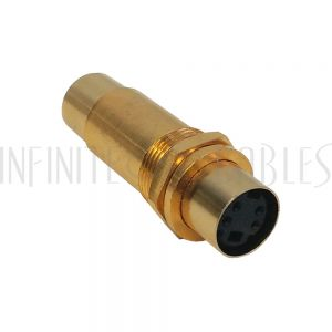 AD-SVD S-Video Female to Female Bulkhead, Gold Plated