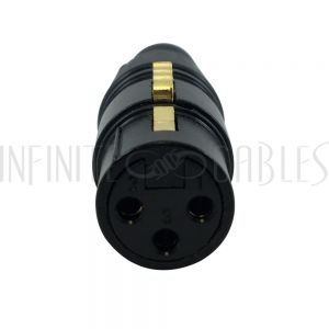 CN-XLRF-NBK XLR Female Solder Connector - Black, Gold Plated - Infinite Cables