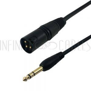 XLR Male to 1/4 Inch TRS Male Cables - Infinite Cables