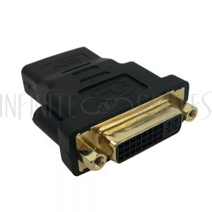 AD-HDMI-DVI-3 DVI Female to HDMI Female Adapter - Infinite Cables