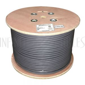 BK-C5E254L-1000GY 1000ft 25 Pair Cat5e Solid UTP FT4/CMR Bulk Cable - Grey - Infinite Cables