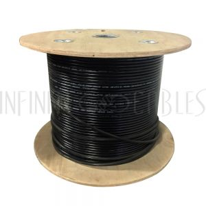 BK-C5ESL-4DBS 1000ft 4 Pair Cat5e 350MHz FTP Solid UV / Direct Burial Bulk Cable - Black - Infinite Cables