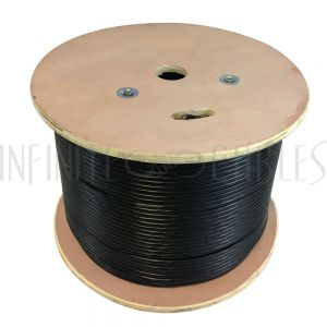 BK-C5ESL-4GEL 1000ft 4 Pair Cat5e 350MHz UTP Solid UV / Direct Burial Gel Filled Bulk Cable - Black - Infinite Cables