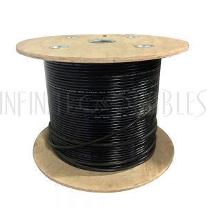 BK-C6SL-4DBS 1000ft 4 Pair Cat6 550MHz FTP Solid UV / Direct Burial Bulk Cable - Black