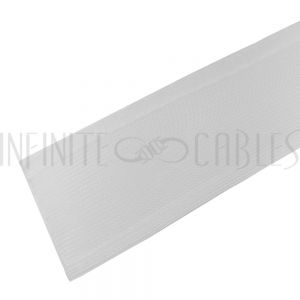 BS-FW200-100WH 100ft 2 inch Split Hook and Loop Braided Sleeving White - Infinite Cables