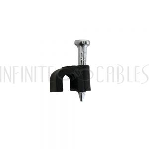 CC-105-BK 100pk Cable Clips for 5mm OD Cable (suitable for CAT5/6) - Black - Infinite Cables