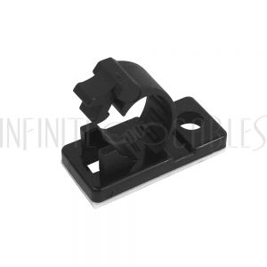 CC-205-BK 100pk Cable Clamp, 7.5mm OD Cable, Self-Adhesive or Screw-Down - Black - Infinite Cables