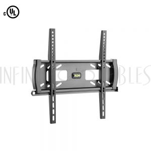 MT-346-BK Fixed TV Wall Mount Bracket for Flat and Curved LCD/LEDs -  Fits Sizes 32-55 inches - Maximum VESA 400x400