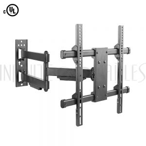 MT-750-BK Full Motion TV Wall Mount Bracket for Flat and Curved LCD/LEDs - Fits Sizes 32 to 55 inches - Maximum VESA 400x400 - Infinite Cables