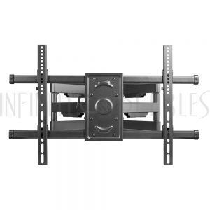 MT-753-BK Full Motion TV Wall Mount Bracket for Flat and Curved LCD/LEDs - Fits Sizes 37 to 70 inches - Maximum VESA 600x400 - Infinite Cables