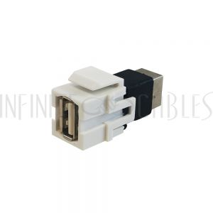 WP-IN-USB4 USB A/B Keystone Wall Plate Insert - Infinite Cables