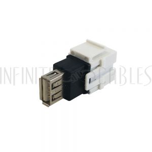 WP-IN-USB5 USB B/A Keystone Wall Plate Insert - Infinite Cables