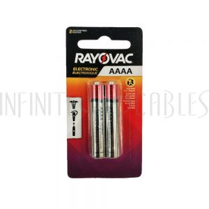 BT-ALK-4A-2 Rayovac AAAA Industrial Alkaline Batteries - KE825-2 (2 per pack) - Infinite Cables