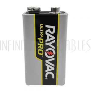 BT-ALK-9V-6 Rayovac 9V Industrial Alkaline Batteries - AL-9V (6 per pack) - Infinite Cables