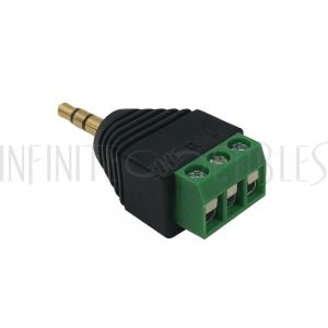 CN-35M3-S 3.5mm Stereo Male Screw Down Connector - Infinite Cables