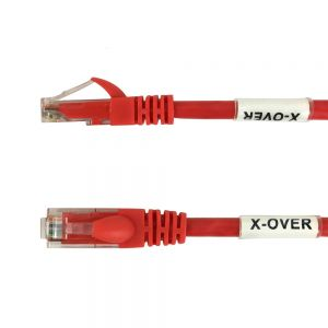 CAT5EX-03RD 3ft RJ45 Cat5e Cross-Wired Patch Cable - Red - Infinite Cables