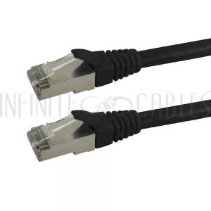 CAT6AS-01BK RJ45 Cat6a SSTP 10GB Molded Patch Cable - Premium Fluke<sup>®</sup> Patch Cable Certified - CMR Riser Rated - Infinite Cables
