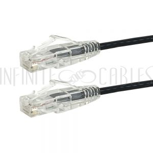 CAT6UT-6INBK RJ45 Cat6 UTP Ultra-Thin Patch Cable - Premium Fluke<sup>®</sup> Patch Cable Certified - CMR Riser Rated - Infinite Cables