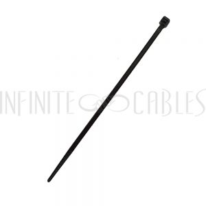 CT-104-1000BK 1000pk 4 inch cable tie (18lb) - UV & weather resistant nylon 66 - Black - Infinite Cables