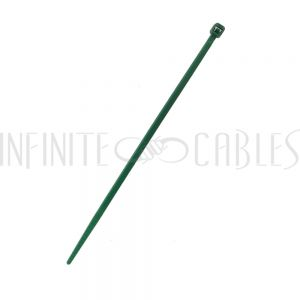 CT-104-100GN 100pk 4 inch cable tie (18lb) - UL94 V-2 nylon 66 - Green - Infinite Cables