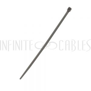 CT-104-100GY 100pk 4 inch cable tie (18lb) - UL94 V-2 nylon 66 - Grey - Infinite Cables