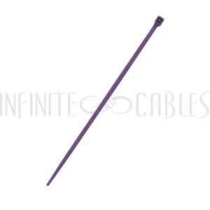 CT-104-100PR 100pk 4 inch cable tie (18lb) - UL94 V-2 nylon 66 - Purple