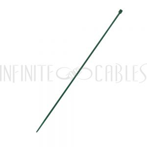 CT-108-100GN 100pk 8 inch cable tie (18lb) - UL94 V-2 nylon 66 - Green - Infinite Cables
