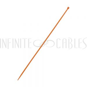 CT-108-100OR 100pk 8 inch cable tie (18lb) - UL94 V-2 nylon 66 - Orange