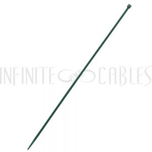 CT-212-100GN 100pk 12 inch cable tie (40lb) - UL94 V-2 nylon 66 - Green - Infinite Cables